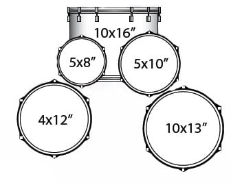 Ludwig Drums LJR106 5-Pc Junior Drum Kit with Hardware and Cymbals LJR106