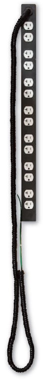 20A Hardwired Single Circuit AC Power Strip