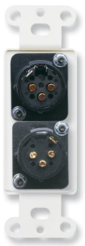 3-Pin XLR-F & 3-Pin XLR-M Stainless Steel Decora Wall Plate