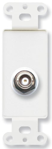 Insulated Double BNC Jack on Decora Wall Plate
