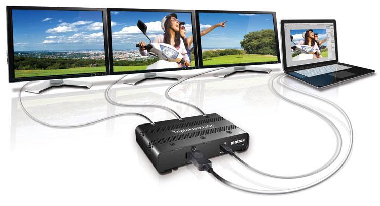 Matrox T2G-DP3D-IF TripleHead2Go Digital SE Multi-Display Adapter TRIP2GO-DP3D-IF