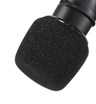 4-pack of Black Windscreens for Centraverse CVO Microphones