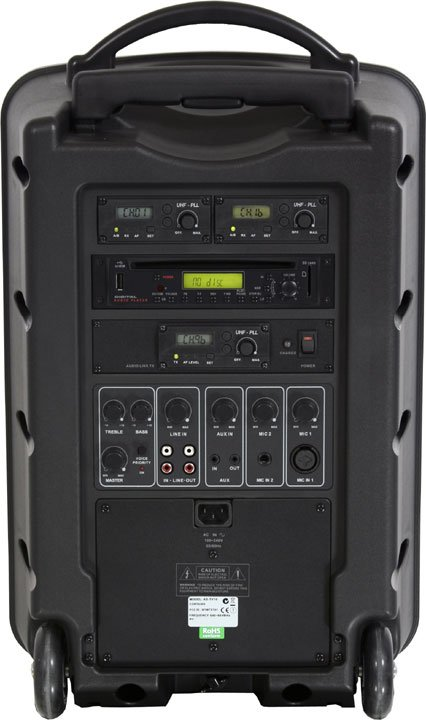 Traveler PA System, with microphone, Audio Link & CD player