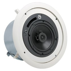 "4"" 2-Way Coaxial Speaker System with 70.7V/100V-16W Transformer with 8 Ohm Bypass"