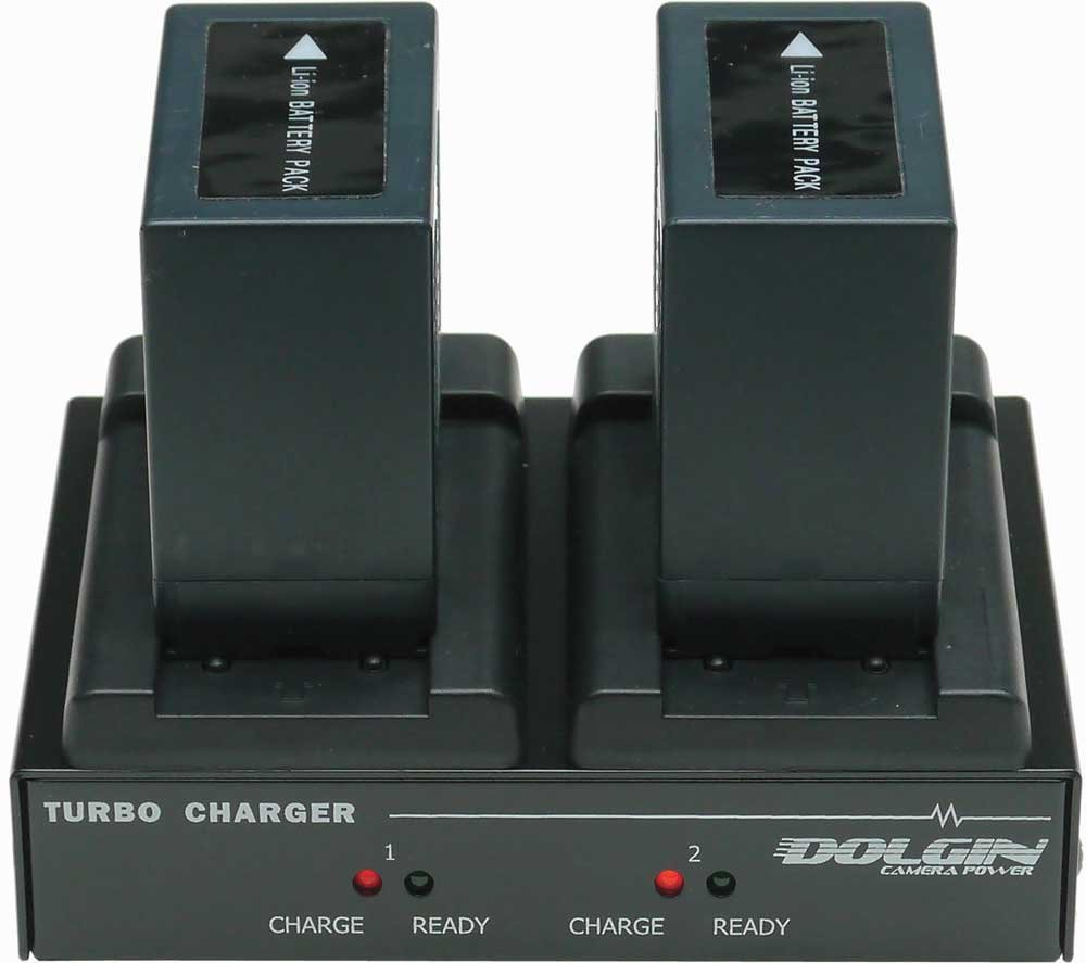TecNec DOLG-TC200-CAN  Dolgin TC200 Dual Turbo Charger for Sony Panasonic Canon and JVC Batteries DOLG-TC200-CAN