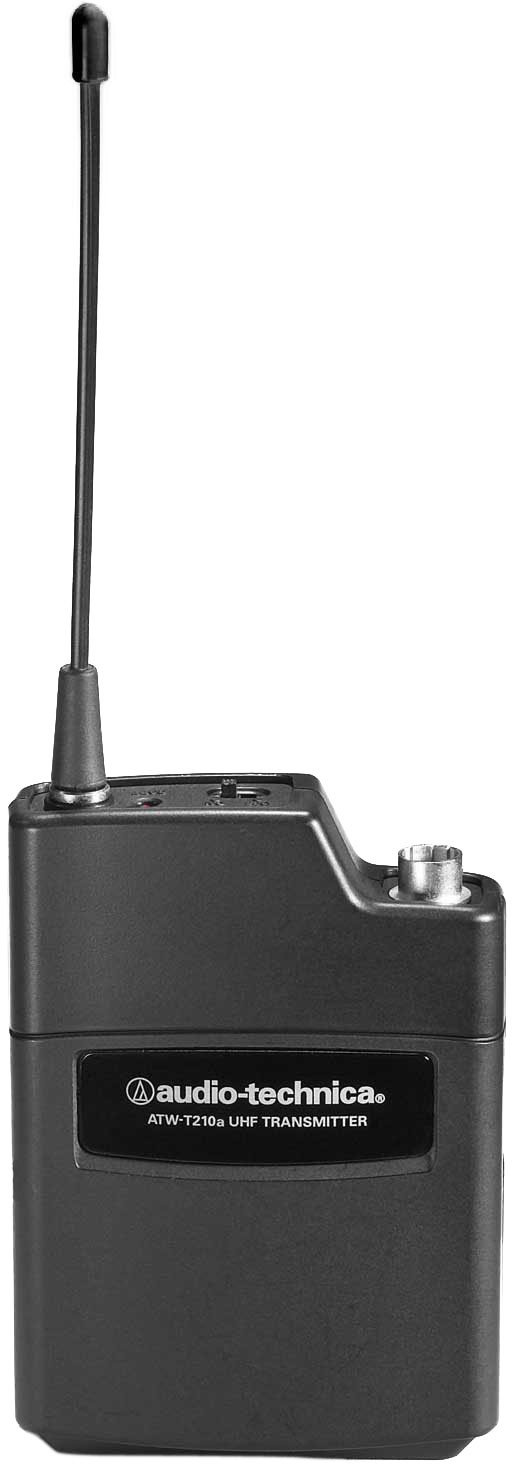 Wireless Bodypack Transmitter, AT 2000 Series, UHF Band I 487.125-506.500 MHz