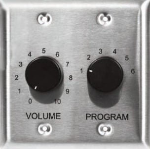 Volume Control with Selector Switch (Standard/Stainless)