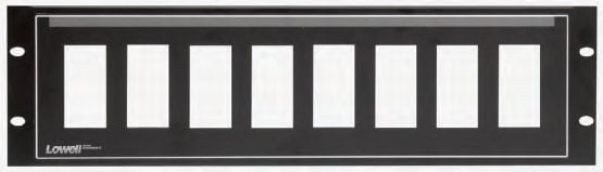 3RU Decora 8-Hole Panel with Pocket-ID