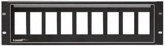 3RU Decora 9-Hole Panel with Pocket-ID