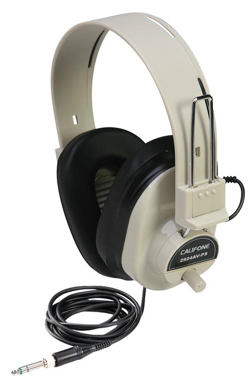 Califone International 2924AVPS  Stereo Headphones, Beige 2924AVPS