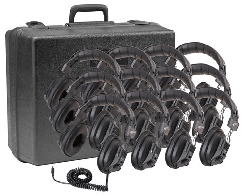 Califone International 3068-12  Switchable Stereo/ Mono Headphones, 12-Pack 3068-12