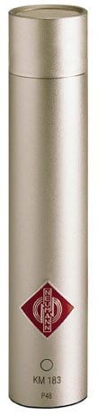 Neumann KM 183 ni Omnidirectional Condenser Microphone in Satin Nickel Finish with K30 Capsule and Accessories KM183-SILVER