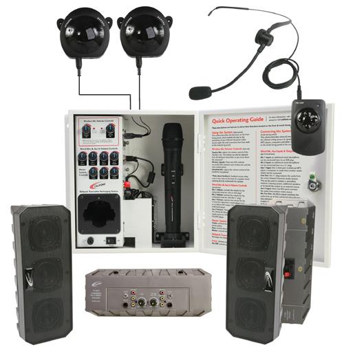 4-Speaker IR Classroom Audio System