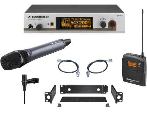 Wireless Handheld and Bodypack Microphone System with the e865 & ME2 Lav
