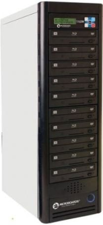 10-Bay Daisy-Chainable CopyWriter Blu-ray Duplicator Tower with 500GB HDD