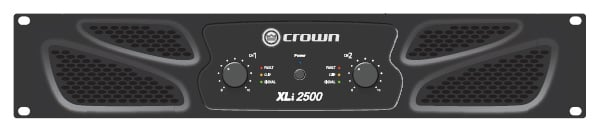 Crown XLi 2500 Stereo Power Amplifier, 750W Per Channel @ 4 Ohms XLI2500