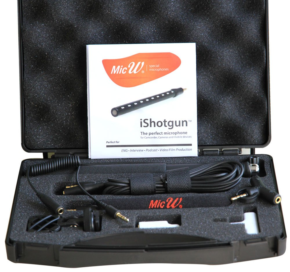 Miniature Shotgun Microphone with Accessory Kit