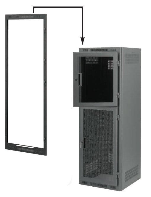 Dual-Door Frame for 24RU Rack