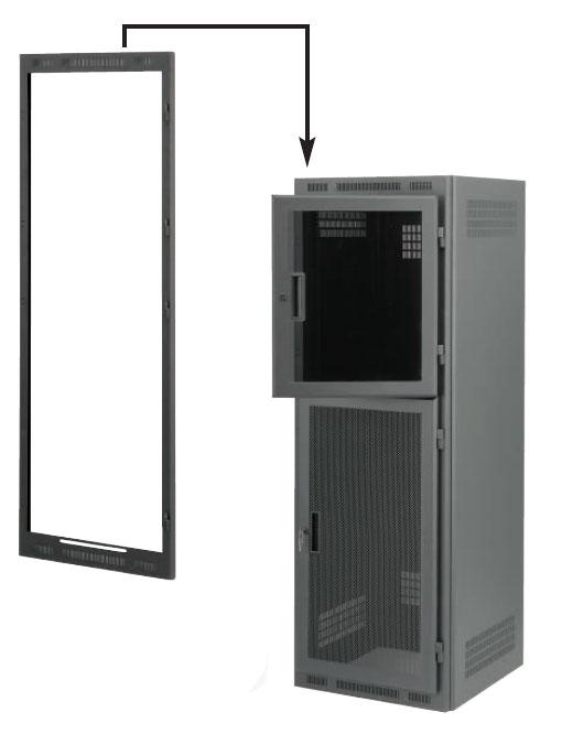 Dual-Door Frame for 24RU Rack