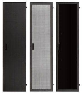 24 RU Fully-Vented Rack Front Door with Lock