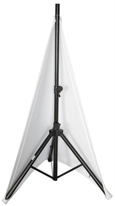 Stretchy 2-Side Speaker Stand Cover in White