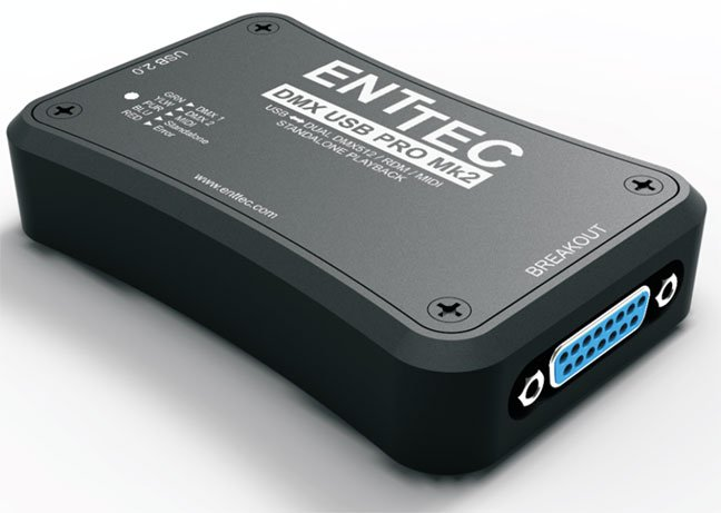 Enttec DMX USB PRO MK2 2 Universe USB To DMX Interface With Standalone  Playback