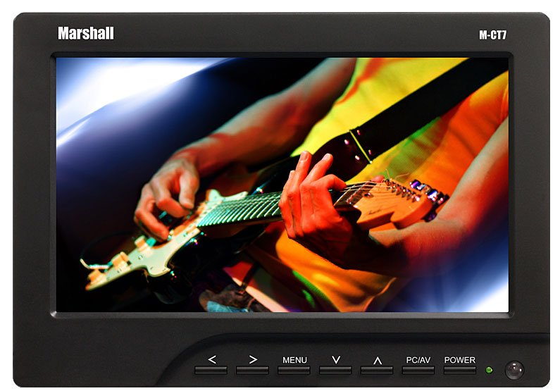 """7"""" Portable Camera-Top LCD Field Monitor with Canon LP-E6 Battery Adapter"""