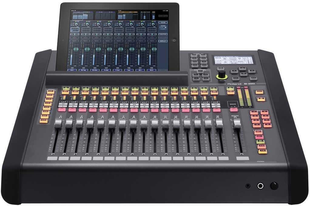 m 200i 32 channel digital live mixing console by roland system group m200i full compass systems. Black Bedroom Furniture Sets. Home Design Ideas