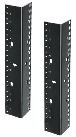 (2) 12 RU Rack Rails with Dual-Hole Pattern