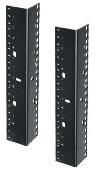 (2) 44 RU Rack Rails with Dual-Hole Pattern
