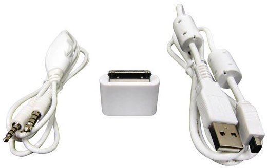 iPad/iPhone/iPod Connector Kit with Voice Control & USB Cable for PK201, PK301