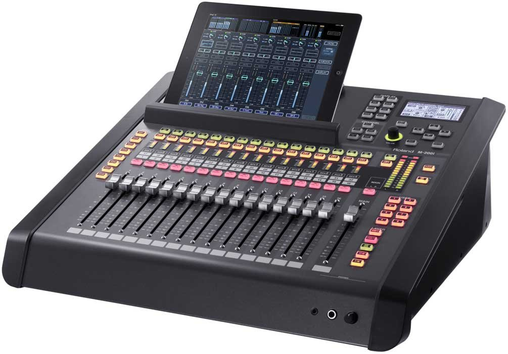 Audio Mixer 40x22 Digital Mixing System: M-200i 32-Channel Digital Live Mixing Console & S-1608 Digital Snake