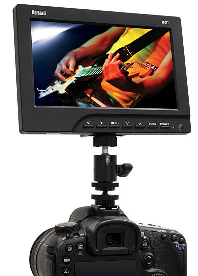 """7"""" Portable Camera-Top Field Monitor with Canon BP511 Battery Adapter"""