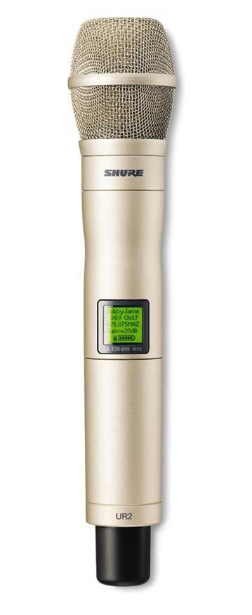 Hand Held Transmitter with the Champagne KSM9HS Capsule, 518-578 MHz Frequency Range