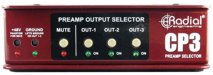 Passive Studio Microphone Preamp Selector