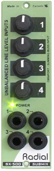 500 Series 4x1 Line Mixer Module