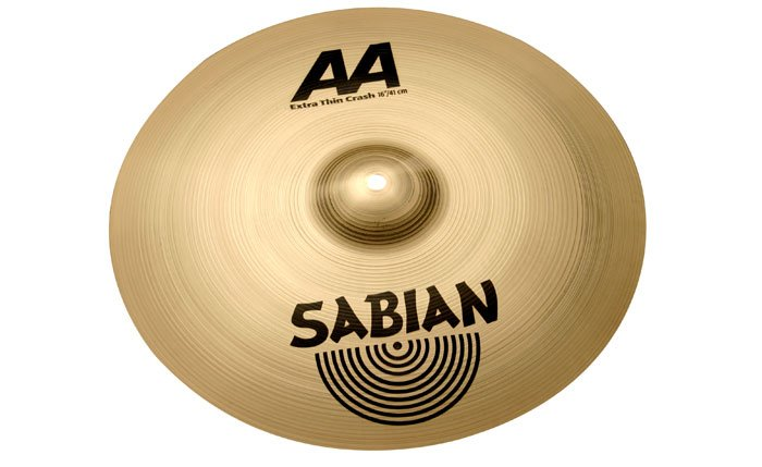 "16"" AA Extra Thin Crash Cymbal in Natural Finish"