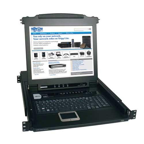 "Console KVM Switch - 8-Port NetDirector 1U Rackmount Console KVM Switch w/17"" LCD"
