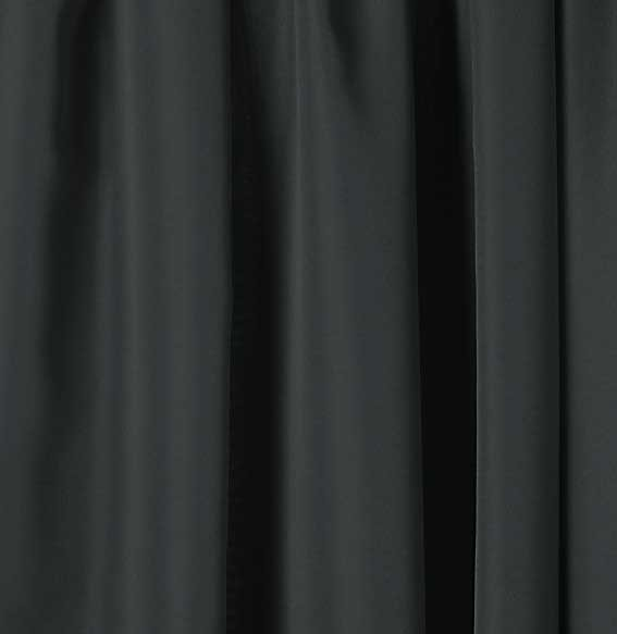 "54"" W x 8 ft. H Black Show Taffeta Drapery, Vinyl"