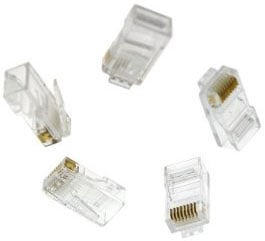 Liberty AV Solutions 10005USOP  Pack of (100) RJ45 Cat5e Clear Connectors 10005USOP