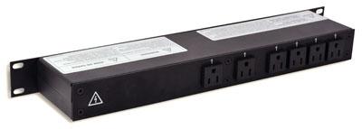 1RU Rack Mount Power Distribution, PowerCON In/Thru to Edisons
