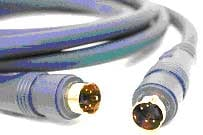 Molded 4-Pin S-Video Cable, 10 Ft