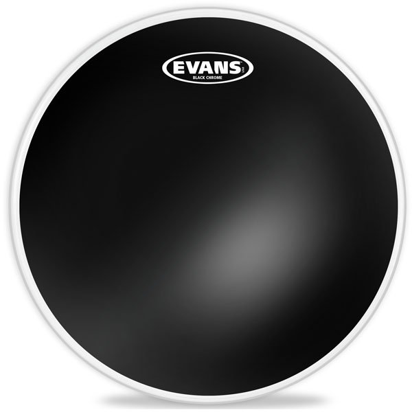 "12"" Black Chrome Batter Drum Head"
