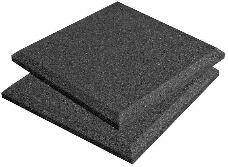 "Auralex SFLAT1114CHA Box of 14 1'x1'x2"" SonoFlat Acoustic Panels in Charcoal SFLAT1114CHA"
