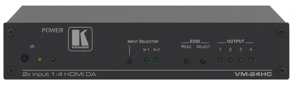 2x1:4 HDMI Switcher & Distribution Amplifier