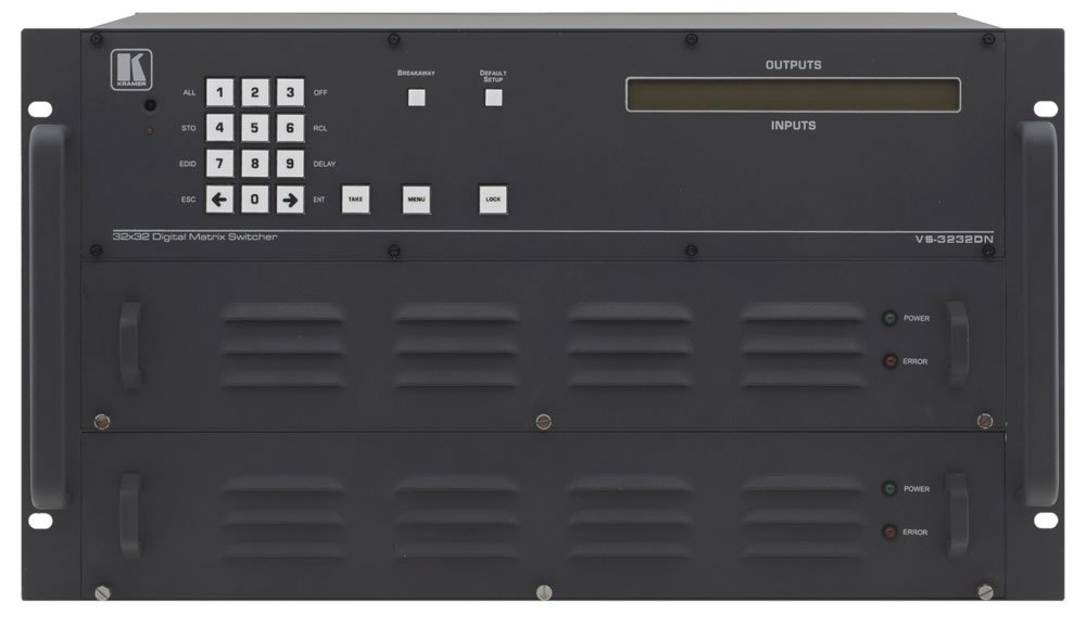4x4 to 32x32 Modular Multi-Format Digital Matrix Switcher