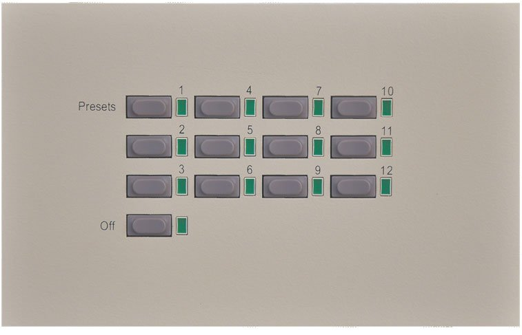 12-Button Wall Panel with Off Button