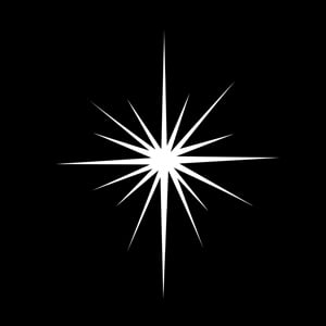 Steel Gobo, Christmas Star Thin