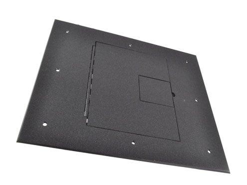 Cover (No Flange) With Hinged Door, Black Sandtex