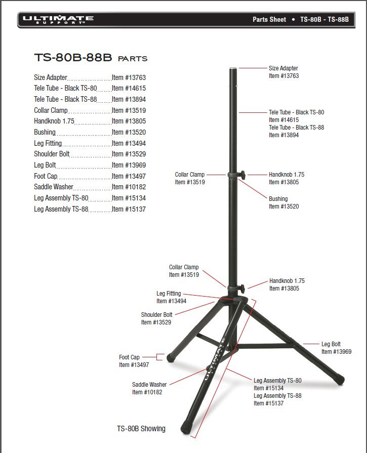 Ultimate Support Stands Telescoping Tube